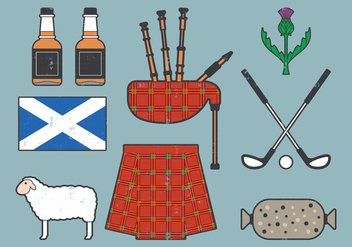 Scotland Travel Collection - Kostenloses vector #403047