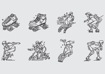 Roller Derby Icon - Free vector #403197