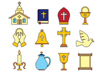 Set Of Comunion Icons - vector gratuit #403207