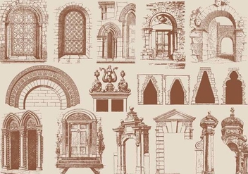 Brown Architecture Elements - бесплатный vector #403237