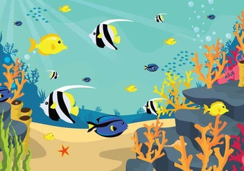Free Seabed Illustration - Free vector #403277