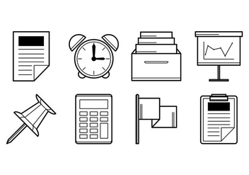 Free Office Stuff Icon Vector - vector #403337 gratis