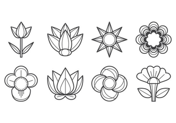 Free Flower Icon Vector - vector gratuit #403367