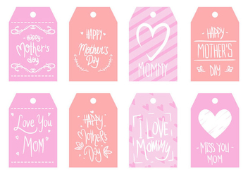 Free Mother's Day Tag Vector - Free vector #403377