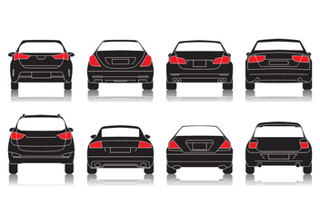 Free Car Rear View Icon Vector - Free vector #403387