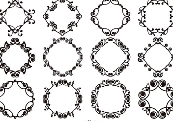 Set Of Ornamental Templates and Monograms - vector #403627 gratis