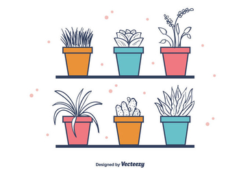 Free House Plants Vector - Free vector #403657
