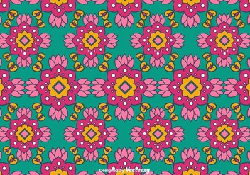 Indian Pattern Vector - Kostenloses vector #403667