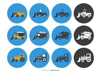 Free Snow Plow Vector Icon Set - Free vector #403727