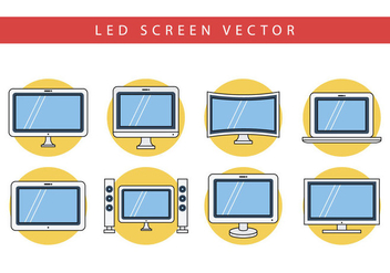 Free Flat LED Screen Vector - Free vector #403747