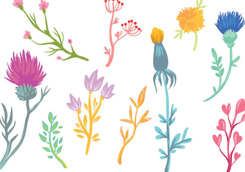 Free Wildflower Vectors - бесплатный vector #403827