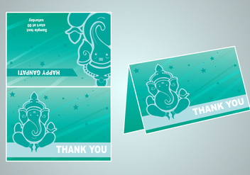 Vector invitation of happy ganpati - бесплатный vector #403907