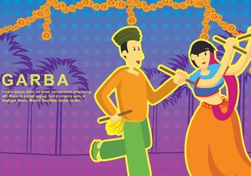 Free Garba Illustration - vector #403967 gratis