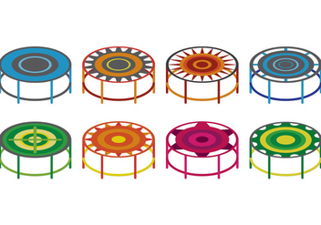 Set Of Trampoline Vectors - Free vector #403997