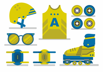 Roller Derby Vector Set - Kostenloses vector #404027