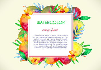 Watercolor Mango and Fruit Illustration - vector #404057 gratis