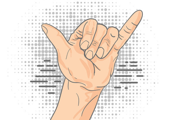 Shaka Sign Gesture - vector gratuit #404107