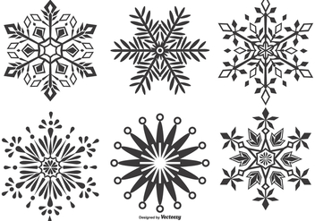Vector Snowflake Shapes Collection - vector gratuit #404197
