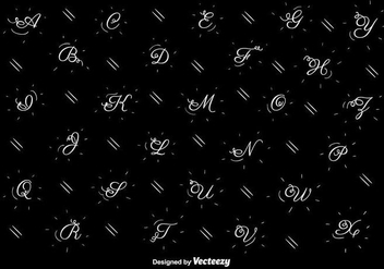 Hand Drawn Alphabet Vector - vector #404297 gratis
