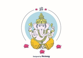 Free Ganpati Background - Free vector #404307
