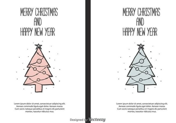Christmas and New Year Vector Background - Free vector #404357