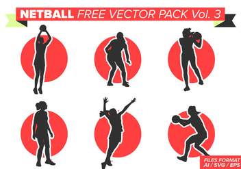 Netball Free Vector Pack Vol. 3 - vector #404367 gratis