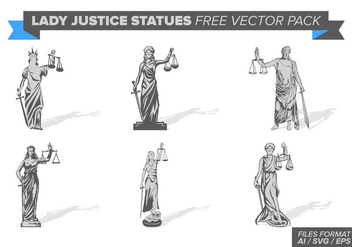 Lady Justice Statue Free Vector Pack - vector #404387 gratis