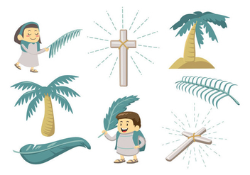 Free Palm Sunday Vector - бесплатный vector #404457