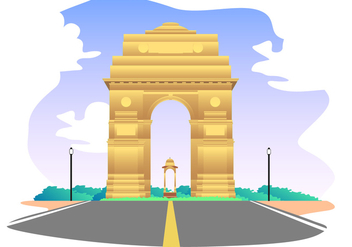 India Gate Free Vector - vector gratuit #404497