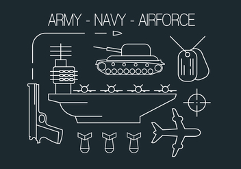 Free Military Icons - vector #404507 gratis