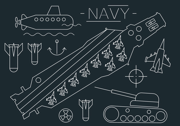 Aircraft Carrier Vector Illustration - бесплатный vector #404517