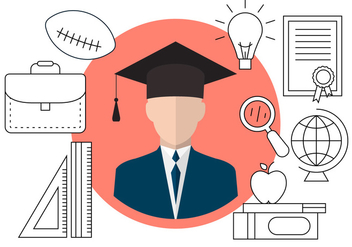 Free Graduation Icons - vector #404547 gratis