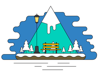 Landscape Island Vector Illustration - Free vector #404617