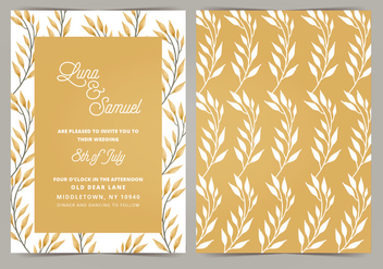 Vector Wedding Invitation - бесплатный vector #404657
