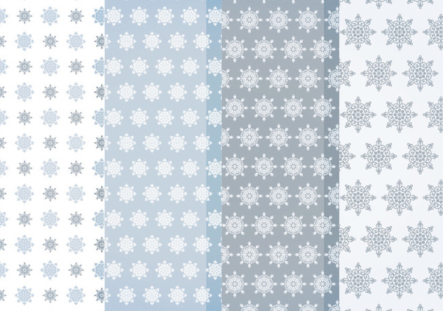 Vector Snowflakes Patterns - Free vector #404697