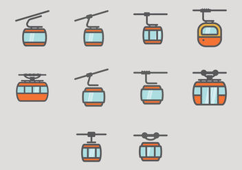 Cable Car Icon - Kostenloses vector #404737
