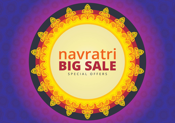 Navratri Big Sale Illustration - бесплатный vector #404777