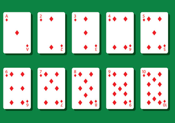 Diamond Poker Card Vectors - Free vector #404807