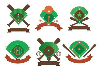 Baseball diamond vector - vector gratuit #404837