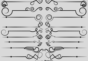 Vector Ornamental Dividers - Free vector #404887