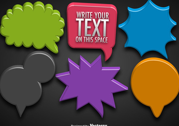 Vector Collections Of 3d Colorful Speech Bubbles - vector gratuit #404897