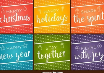 Happy Holidays Vector Backgrounds - vector #404917 gratis
