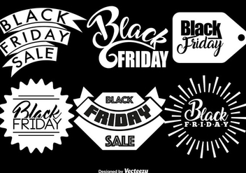 Vector Set Of 6 Black Friday Badges - vector #404927 gratis