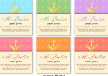 Bautizo Vector Invitations Blank Template - vector gratuit #404947