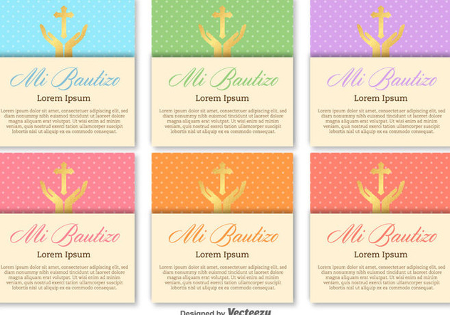 bautizo vector invitations blank template free vector download
