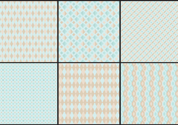 Pastel Toile Patterns - vector gratuit #404987