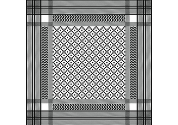 Keffiyeh Black Seamless Pattern - Free vector #405027