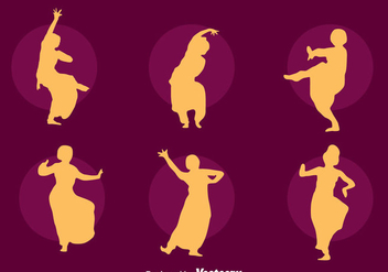 Bollywood Dance Silhouette Vector Set - Free vector #405057