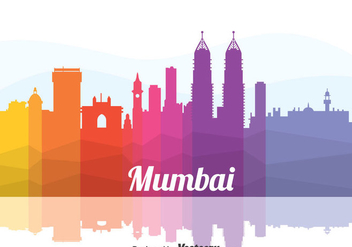 Colorful Mumbai Cityscape Vector - бесплатный vector #405107