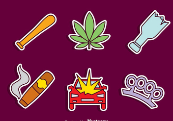 Hand Drawn Hooligans Element vector Set - бесплатный vector #405127
